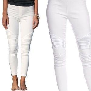 White Moto Jeggings Motto Leggings Skinny Denim
